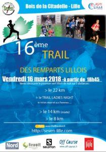 Affiche Trail des remparts Lillois 2018